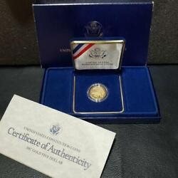 United States Constitution Proof Gold Coin W/certificate 8.359g 1987 F/s 9695n