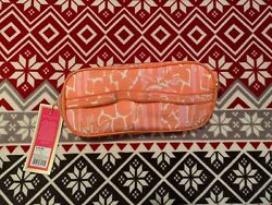 Lilly Pulitzer For Target Cosmetic Bag Dopp Orange FloralNWT $20.00