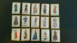 1974 Greece National Costume Dresses 15 Stamps Mint