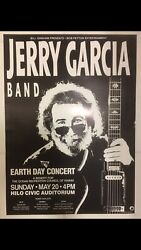 Jerry Garcia Band 1990 Vintage Earth Day Concert Poster ✌️