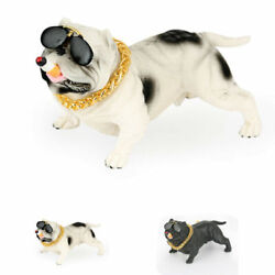 Bully Pitbull Dog Figurine Decoration Home Car Sculpture Ornament Funny Toy Gift