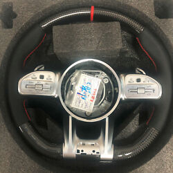 Real Carbon Fiber Steering Wheel Compatible With Mercedes Benz Amg Ohc Motors