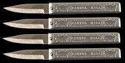 Carvel Hall Crab Knife - Set Of 4 - New Stock - Steamed Crabs Picking - Paring