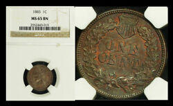 1885 1c Ms65bn Ngc- Indian Head Cent