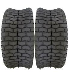 2 New 16x6.50-8 Turf Tires 4 Ply Tubeless Tractor Rider Lawn Mower 16/6.50-8