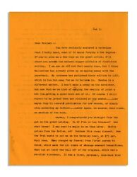 Hunter Thompson Letter From 1966 Re Hell's Angels
