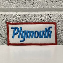 Vtg New Old Stock Original Plymouth Patch Muscle Car Collector Automobilia