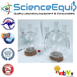 Jacketed Flask Three Neck Jointed 29/32 Heavy Wall Glass Chem Labware - 2000ml