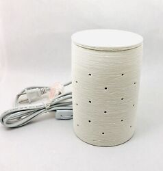 Scentsy Full Size Warmer Wax Melt Etched Core Original White New