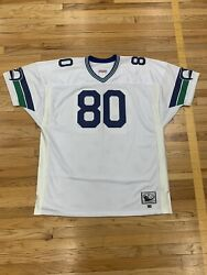 Mitchell Ness Nfl Seattle Seahawks Steve Largent Authentic Jersey White Vintage