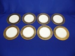 8 New Lenox Landmark Accent Presidential Collection 9 3/8 Salad Dinner Plate