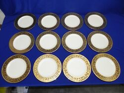 12 New Lenox Landmark Accent Presidential Collection 9 3/8 Salad Dinner Plate