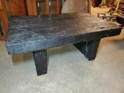 Large Heavy Rustic Slab Molave Wood Coffee Table – Excellent Condition – Beautif