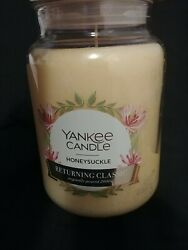 1 quot;NEWquot; Yankee Candle Honeysuckle Classic Large Jar 22oz
