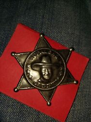 Vintage Toy Hopalong Cassidy Tin Star Embossed Badge Excellent Western Americana