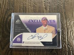 2003-04 Sp Game Used Rookie Exclusive Autographs Re4 Chris Bosh /100