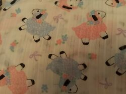 Vintage Fabric Dimity Cotton Fabric sheep 105x45in