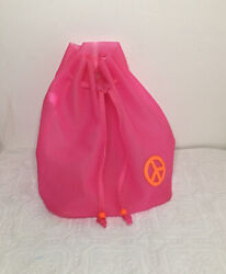 Women Backpack Orange Peace Jelly Tote Girls School Satchel Drawstring Bag Pink $19.99