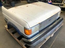 87-91 Ford F350 Ga 7.5 4x4 Xlt Complete Front Clip Hood Bumper Fenders And Cooling