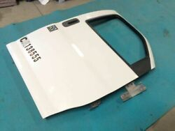 06 Gmc C4500 Used Rh White Right Front Door Assembly W Glass And Hinges