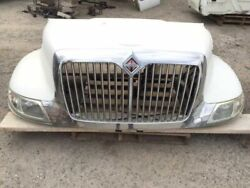 07 International 7.6l Dt466 Used Hood And Grille And Head Lights Lamps Lh Crack