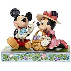 Jim Shore Mickey And Minnie Mouse Painting Easter Eggs Figurine Nib Ships Globally