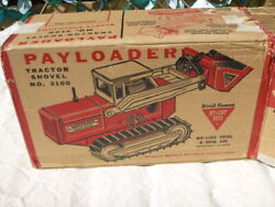 A Vintage 1960and039s Nylint Toys Tin Plate Payloader Tractor Shovel Boxed