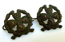 Pair Of Inns Of Court Reserve Corps Officer's Collar Badge - Lugs And Pins