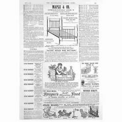 Victorian Adverts Maple And Co Beds, Bridal Bouquet Cream - Antique Print 1885