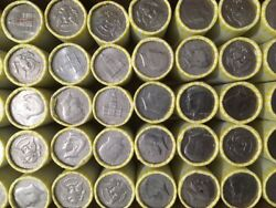 5 10 Fv Unsearched Bank Rolls Half Dollar Coins