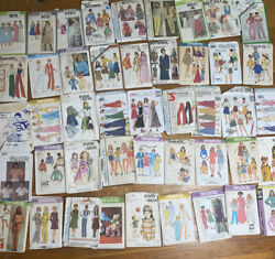Vintage Sewing Patterns Lot 45 Simplicity Mccalls Butterick 1960 1970 1980
