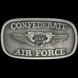 Ghost Squadron Caf Confederate Air Force Wwii Usaf 1980s Nos Vtg Belt Buckle