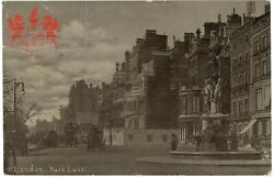 View Of The Poetsand039 Fountain In Park Lane Westminster Central London Postcard