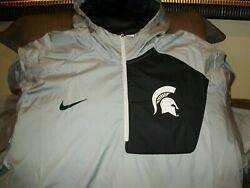 Michigan State Spartans Nike Stay Dry Fly Rush 1/2 Zip Hoodie Jacket Men's 3xl