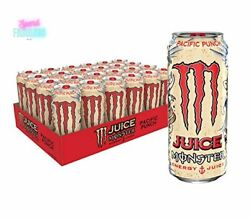 Monster Energy Juice Drink Pacific Punch 16oz Beverage Can Premium Quality 24pck