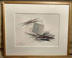 Toko Shinoda Japanese Lithograph Print Kimura Signed And Numbered By Hand