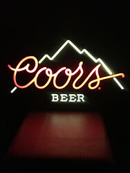 Original Coors The Rocky Mountain Beer Sign, Lighted Bar Sign, November 1984