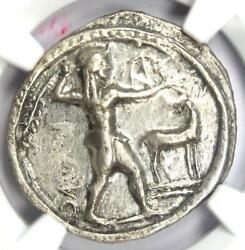 Bruttium Caulonia Ar Apollo Silver Stater Coin 400 Bc - Certified Ngc Choice Vf