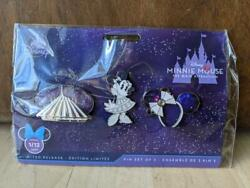 Minnie Mouse Main Attraction Space Mountain Set Of 3 Pins Disney Nwt January