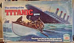 The Sinking Of The Titanic Game 1976 Ideal Toy Board Game Near Complete And Nice