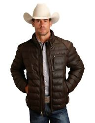 Stetson Western Jacket Mens Leather Quilt Brown 11-097-0539-6617 Br