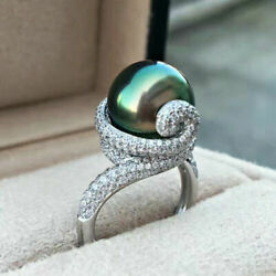 18ct White Gold Stunning Natural Pearl And Diamond Ring Beauty Vs