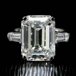 18k Solid White Gold 435 Carats Certified Moissanite Ring Vvs Beauty