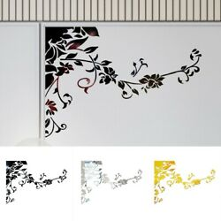 Wall Sticker Ornament Removable Room Acrylic Bedrooms Decoration Flower