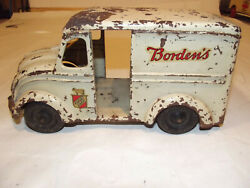 Kingsbury Windup Toy Bordenand039s Milk Truck 1930and039s
