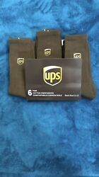 Ups Socks 6 Pairs Crew Lenght Brand New Size L 11-13