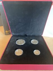 Pure Silver 4 Coin Set-before Confederation Colonial Currency Of Atlantic 166904