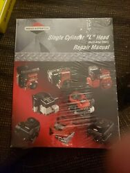 Briggs And Stratton Single Cylinder L Head Engine Repair Manual Oem 270962 New
