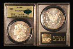 1886 1 Ms64dmpl Pcgs/cac-only 213 Finer - Morgan Dollar