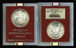 1890-s 1 Ms64 Ngc-redfield Collection Morgan Dollar